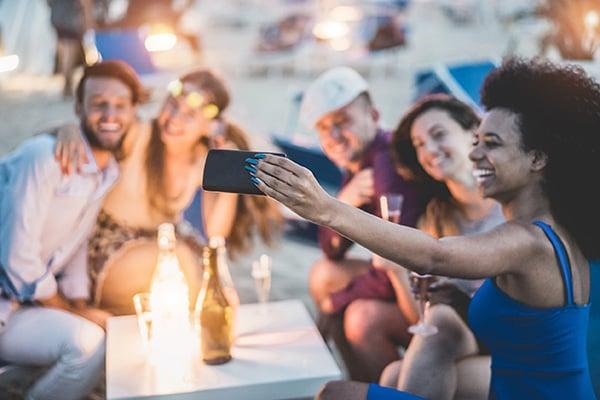 Social media depends on social gatherings