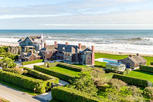 Huge family estates line The Hamptons shore