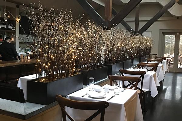 Fine dining at Dopo La Spiaggia restaurant, a Hamptons favorite