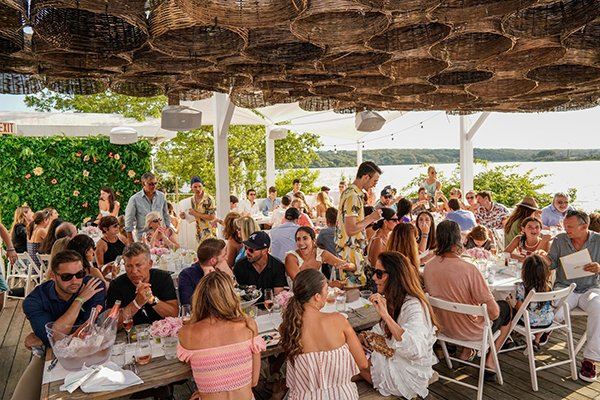 Hamptons bachelorette party lunch and day drinking