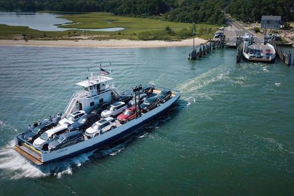 Travel from Sag Harbor to Shelter Island by Ferry boat