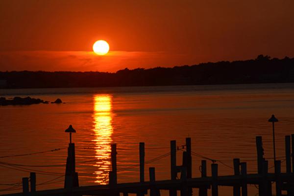 Sag Harbor Lighthouse at sunset