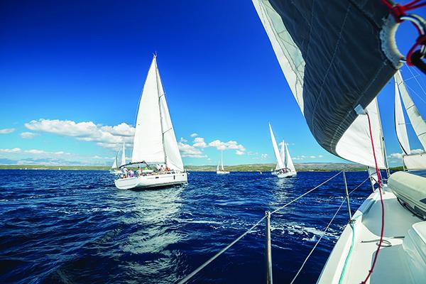 Sailing in the harbor, Montauk NY 11954