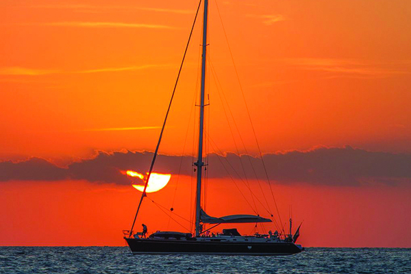 Take a boat to Shelter Island, famous for its great sunsets