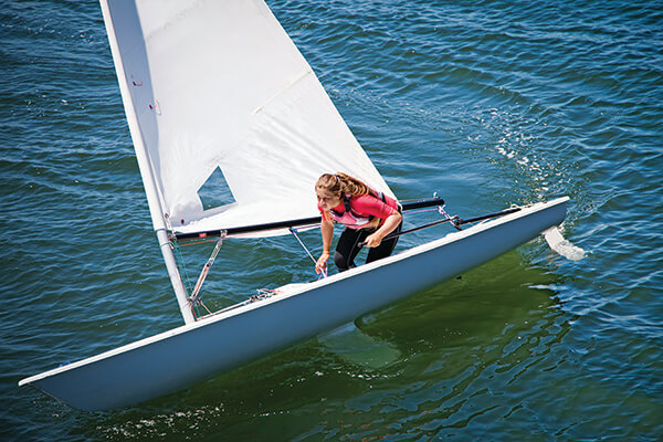 Weather permitting, sailing lessons are a great way to spend the day