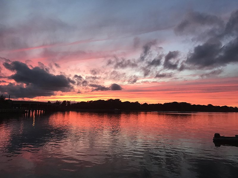 The colors light up the Sag Harbor Sky
