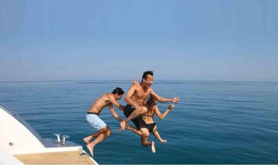 yacht jump